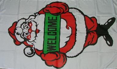 Flagge Fahne Weihnachtsmann Welcome 90 x 150 cm - Vorschau