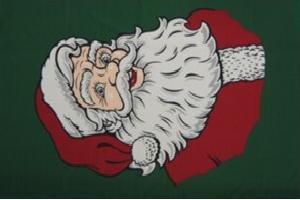 Flagge Fahne Weihnachtsmann quer 90 x 150 cm - Vorschau