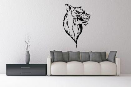 Wandtatttoo Wolf Head Motiv Nr. 2