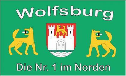 Flagge Fahne Wolfsburg Nr. 1 90 x 150 cm