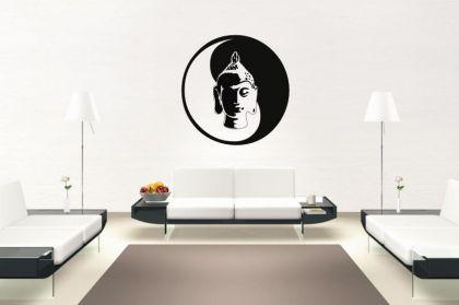 Wandtattoo Yin Yang Buddha