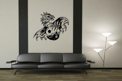 Wandtattoo Yin Yang Drachen Motiv Nr. 2