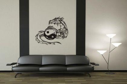 Wandtattoo Yin Yang Drachen Motiv Nr. 3