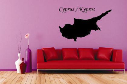 wandtattoo zypern karte kaufen bei. Black Bedroom Furniture Sets. Home Design Ideas