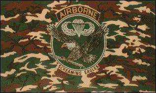 Flagge Fahne Airborne Screaming Eagles 90 x 150 cm - Vorschau