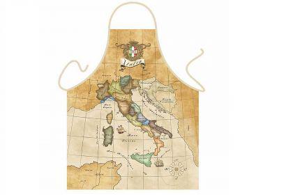 Schürze alte Karte Italiens 56 x 73 cm