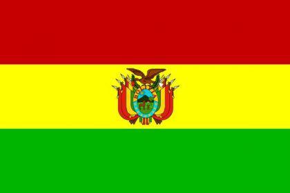 Flagge Fahne Bolivien Wappen 90 x 150 cm