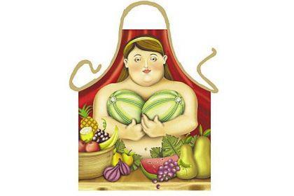 Schürze Botero Frau 56 x 73 cm