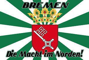 Flagge Fahne Bremen Macht a. d. Norden 90 x 150 cm - Vorschau