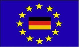 Flagge Fahne Europa mit Deutschland 90 x 150 cm
