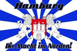 Flagge Fahne Hamburg Macht im Norden 90 x 150 cm - Vorschau