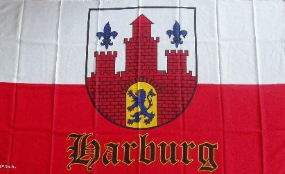 Flagge Fahne Hamburg Harburg 90 x 150 cm - Vorschau