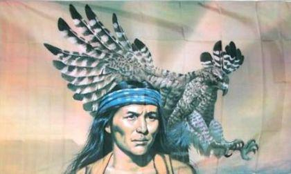 Flagge Fahne Indianer Adler 90 x 150 cm - Vorschau