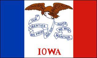 Flagge Fahne Iowa 90 x 150 cm - Vorschau