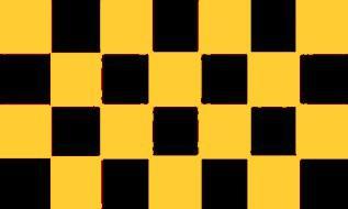 Flagge Fahne Karo schwarz gelb 90 x 150 cm - Vorschau
