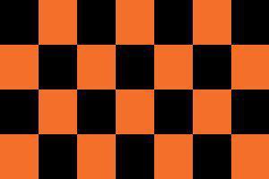 Flagge Fahne Karoflagge schwarz orange 90 x 150 cm - Vorschau
