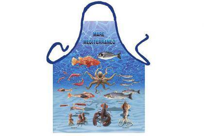 Schürze Meeresfrüchte 56 x 73 cm