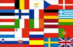 Flagge Fahne Europa 25 Länder 90 x 150 cm
