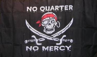 Flagge Fahne Pirat No Quarter No mercy 90 x 150 cm