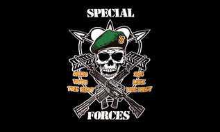 Flagge Fahne Pirat Special Forces 90 x 150 cm