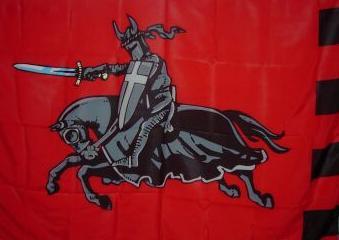 Flagge Fahne schwarzer Ritter rot 90 x 150 cm - Vorschau