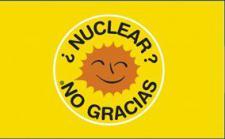Flagge Fahne Atomkraft Nein Danke! spanisch