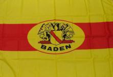 Flagge Fahne Baden mit Wappen 90 x 150 cm