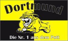 Flagge Fahne Dortmund Nr. 1 a d Pott 90 x 150 cm