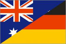 Flagge Fahne Deutschland-Australien Freundschaft