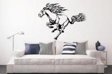 Wandtattoo Flamed Horse Motiv Nr. 1