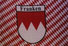 Flagge Fahne Franken Raute Schrift 90 x 150 cm