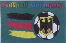 Flagge Fahne Deutschland Fussball grün 90 x 150 cm