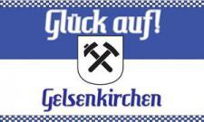 Flagge Fahne Gelsenkirchen Glückauf 90 x 150 cm