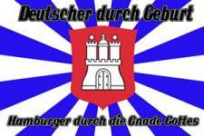Flagge Fahne Hamburger Gnade Gottes 90 x 150 cm