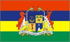 Flagge Fahne Mauritius mit Wappen 90 x 150 cm
