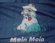 Flagge Fahne Moin Seehund 90 x 150 cm