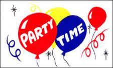 Flagge Fahne Party Time 90 x 150 cm