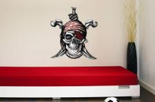 Wandtattoo Pirat Jolly Roger