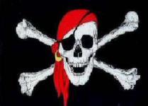 Flagge Fahne Pirat rotes Kopftuch 90 x 150 cm