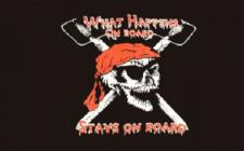 Flagge Fahne Pirat What happens 90 x 150 cm
