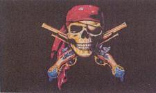 Flagge Fahne Pirat mit Pistolen 90 x 150 cm