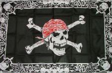 Flagge Fahne Pirat with Triming 90 x 150 cm