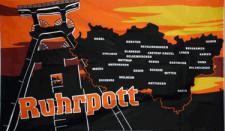 Flagge Fahne Ruhrpott Landkarte 90 x 150 cm
