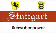 Flagge Fahne Stuttgart Schwabenpower 90 x 150 cm