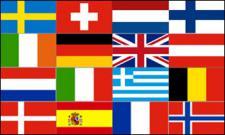 Flagge Fahne Europa 16 Länder 90 x 150 cm