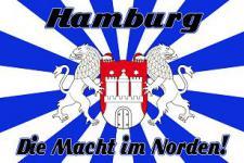 Flagge Fahne Hamburg Macht im Norden 90 x 150 cm