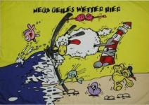 Flagge Fahne Mega geiles Wetter Schaf 90 x 150 cm