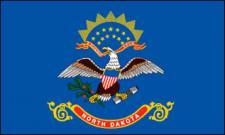 Flagge Fahne North Dakota 90 x 150 cm