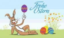 Flagge Fahne Frohe Ostern 8 90 x 150 cm