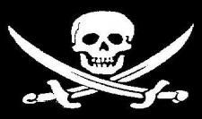 Flagge Fahne Pirat mit Säbel 90 x 150 cm